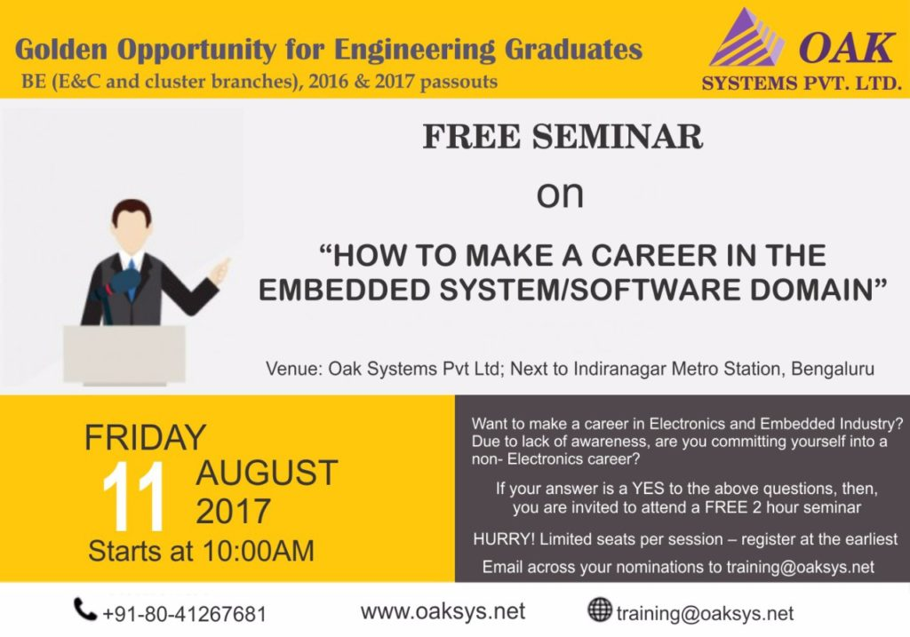 Oaksys Seminar