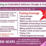 Certification course on Embedded Software Design & Testing